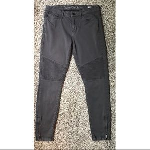 Calvin Klein Jeans Grey Ribbed Moto Skinnies